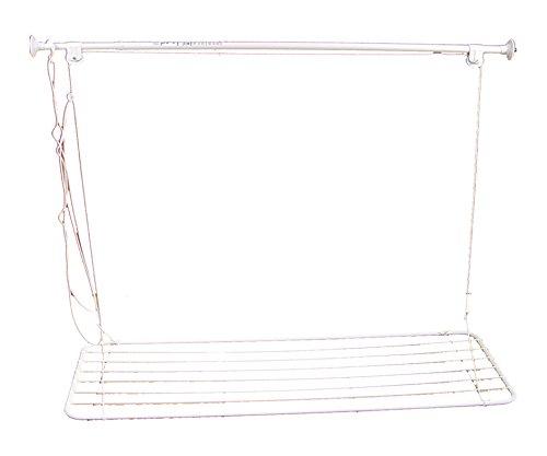 IMEX EL ZORRO Tendedero metálico plastificado de Techo bañera, 1400x520 mm, Compuesto, Negro, 100.0x80.0x15.0 cm