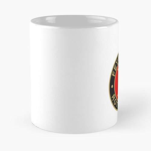 Ajax Logo Feyenoord Voetbalclub Wit Team Rotterdam Eten Eten Bite John Best 11oz Keramische Koffie Mok