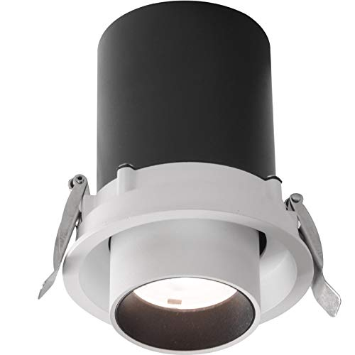 85-262V for Home Kitchen 15W COB LED Spotlight 6000K 1425LM Cold White Pocketman 10 Pack Recessed Ceiling Downlight Office Inside Decoration