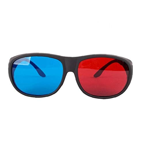 Red-Blue 3D Glasses Cyan Anaglyph Simple Style 3D Glasses Stereo Movie Game-Extra Upgrade Style for Men Women Replacement Electronics Accessories