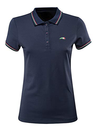 Equiline Damen Poloshirt CREUSETT TeamCol.20 Größe XXL, Farbe blau