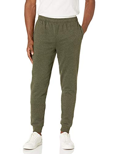 Amazon Essentials Men's Fleece Jogger Pant, Olive, Large