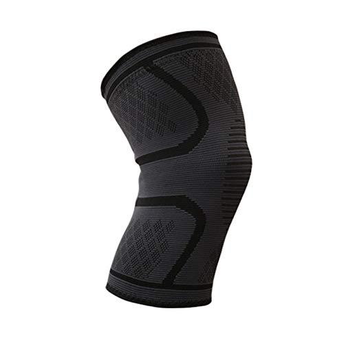 Miavogo 2 x Kniebandage für Damen und Herren, Knieschoner Kniestützer Mehr Stabilität und Unterstützung beim Sport Laufen Joggen Wandern Volleyball Crossfit (Schwarz, L)