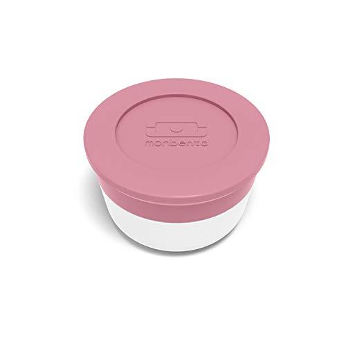 monbento - MB Temple S rosa Blush Dressing/Soße Behälter to-go x2 - Die Saucendöschen - Geeignet für MB Original