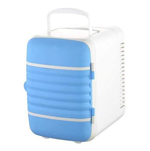 FZYE Mini Nevera portátil, refrigeración silenciosa, bajo Consumo de energía, Compacto, Retro, Independiente, 12V220V-para Coches, hogares, oficinas y dormitorios, Azul