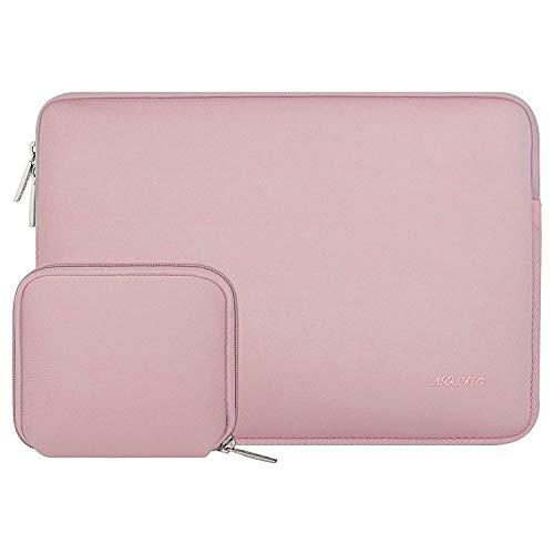 MOSISO Wasserabweisend Neopren Hülle Sleeve Tasche Kompatibel mit 13-13,3 Zoll MacBook Pro, MacBook Air, Notebook Computer Laptophülle Laptoptasche Notebooktasche mit Kleinen Fall, Baby Rosa