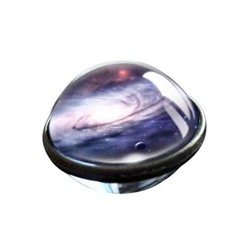 Yowablo Halskette Anhänger Sonnensystem Planet Halskette Galaxy Doppelseitige Glaskuppel (1C)