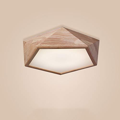 Plafonnier en Bois de Style Nordique, Lampe de Plafond d'éclairage d'étude de Salle à Manger de Salon de Chambre à Coucher, LED (Taille : Diameter 59cm)
