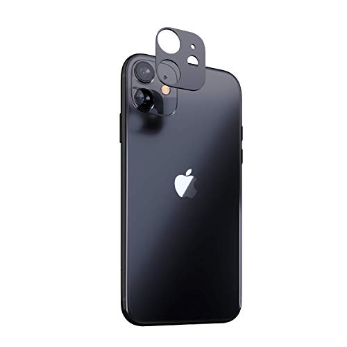 innoGadgets Camera lens Protector compatible with iPhone 11 | Camera Cover, Lens Protector | Protection against shocks and scratches | Dust free installation with Cleaning Set | Black