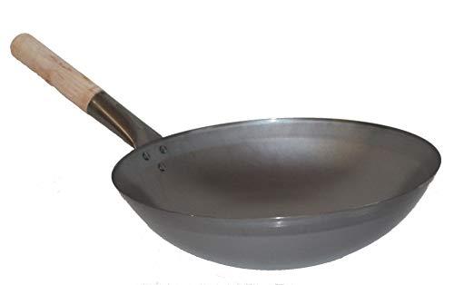 AAF Nommel ® Wok ca. 36 cm Durchmesser mit rundem Boden für Gas, Gastronomie, Wokpfanne