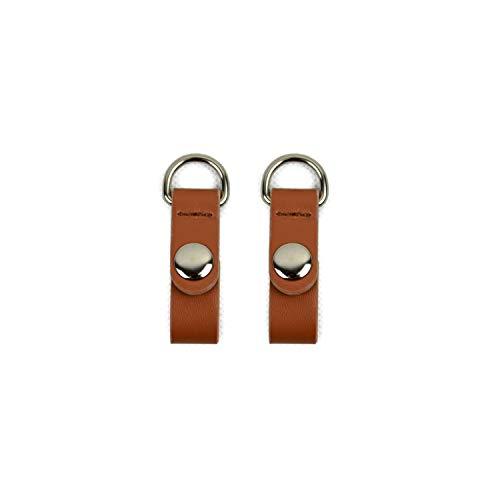 Ucaoorlden 1 Paar 2 Stück Kunstleder Gurt Haken Clip, Braun - Braun Silber - Größe: Einheitsgröße