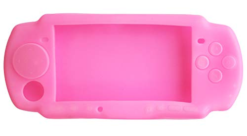 OSTENT Soft Protector Silicon Travel Carry Case Skin Cover Pouch Sleeve Compatible for Sony PSP 2000/3000 Color Pink