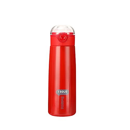Taza de preservación de calor portátil de acero inoxidable puede botella salto Copa deportes al aire libre agua taza 420ml 420ml rojo