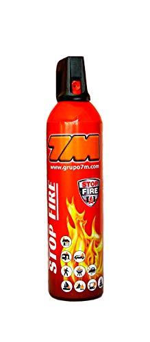 Mini extintor STOP FIRE. Extintor para casa, coche, taller, oficina, caravana, jardin, etc. NO es tóxico ni irritante. Fácil de limpiar. No necesita revisiones