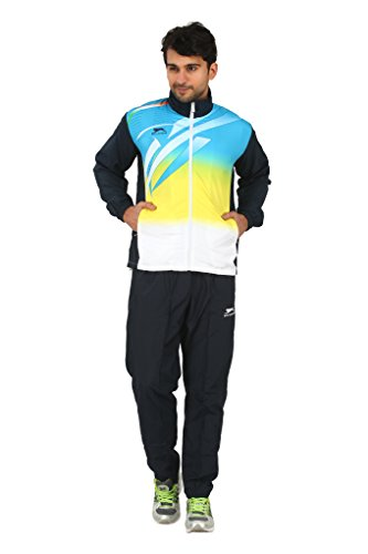 SHIV NARESH Men's Micro Common Wealth Games 950 Polyester Track Suit, (Large, Blue)