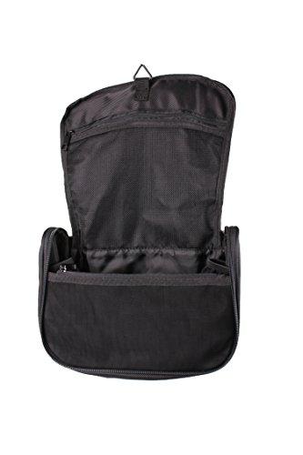 TCM Tchibo Reise Kulturtasche mit Haken zum Aufhängen Kulturbeutel schwarz