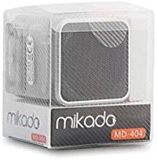 Mikado MD-404 Gümüş FM Radyo Destekli Müzik Kutusu, Siyah