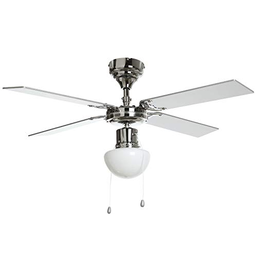 Lindby Deckenventilator mit Beleuchtung und Zugschalter leise | 2-in-1: Ventilator & Lampe | Durchmesser: 105 cm | 3 Geschwindigkeitsstufen | Sommer- & Winterbetrieb