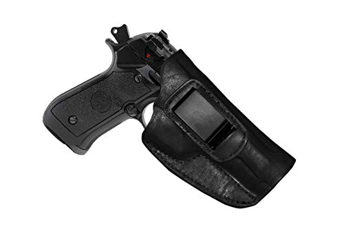 KoHolster IWB Concealed Carry Gun Holster for Beretta 92FS/92/92F/M9/96/|4.9 inches|Geniune Leather|Black
