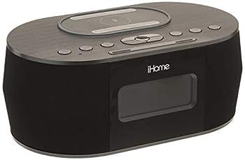 iHOME iBTW38 Wireless Charging Bluetooth Alarm Clock,Black