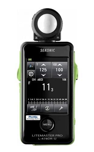 Sekonic SK011766 - Fotómetro L-478DR-PX Phottix, Negro