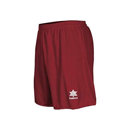Luanvi - Pantalones cortos deportivos para hombre, color burdeos