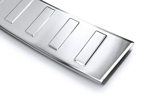 tuning-art L295 Kombi Edelstahl Ladekantenschutz 5 Jahre Garantie, Farbe:Silber