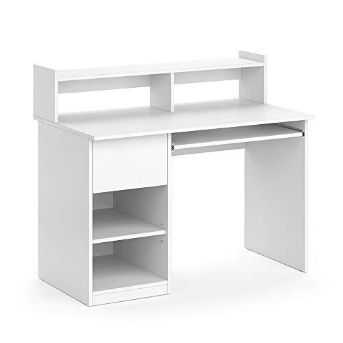 Vicco Schreibtisch Bürotisch Arbeitstisch Keno weiß Computertisch Monitorständer
