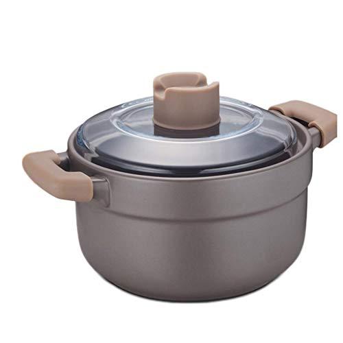 ZHANGJINYISHOP2016 Olla Acero Hogar Abierto Fuego Sopa de Salud Olla Profunda de cerámica Sopa de cazuela con Mango y la Tapa Transparente Olla de 1.5L / 2.5L Olla (Color : 2.5L)