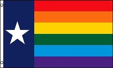 Texas (Rainbow) Flag 3x5ft Poly