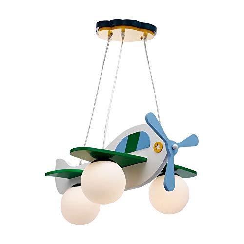 DXX-HR Dormitorio Aviones araña de la personalidad creativa de la lámpara de dibujos animados dormitorio de los niños Lámpara de araña 3 - Lámpara Lámpara