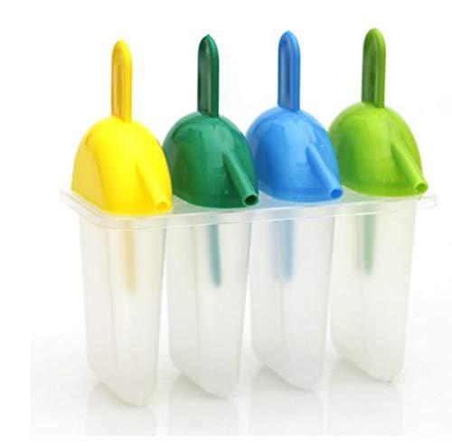 Hacoly - Molde para Helado de Silicona, moldes Reutilizables para Helados, Molde para Hielo Pop para niños y Adultos