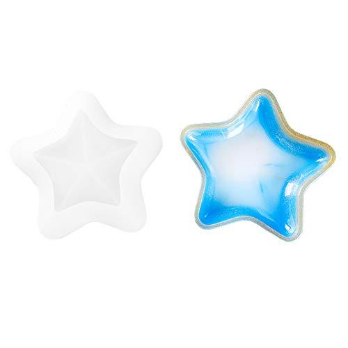 VERTTEE Epoxidharz-Form für Sternform, Untertasse, Schmuck, Aufbewahrungsbox, Kerzenhalter, Aschenbecher, Teller DIY Silikonform Stern