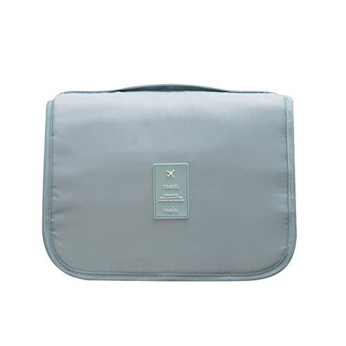 MOye Bolsa de Cosméticos Neceser de Maquillaje Impermeable Bolsa de Maquillaje Almacenamiento Bolsa Portátil de Lavado de Viaje, con Gancho,Azul