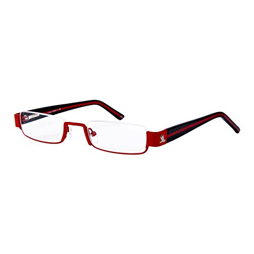 I NEED YOU Lesebrille Anna / +2.00 Dioptrien / Rot-Schwarz