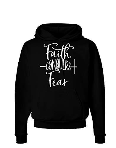 TOOLOUD Faith Conquers Fear Coronavirus Covid 19 Dark Dark Hoodie Sweatshirt Black XL