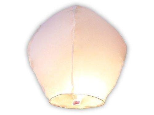 Pack x10 lanternes volantes biodégradables et non inflamables (blanc)