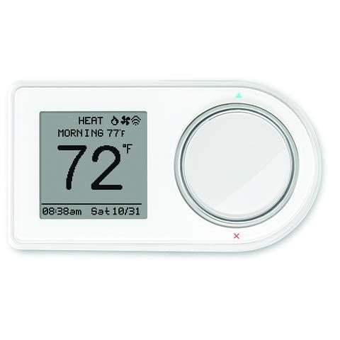 Lux Products GEO-BL-003 - Termostato Wi-Fi, color negro, Blanco