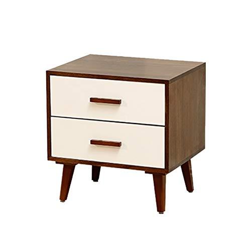 Mesilla de noche Mesa de noche nórdica de mesita de noche de madera maciza Mesa de almacenamiento del gabinete de la cabina de la cabina del armario de la cabina del armario de la cama, mesa auxiliar
