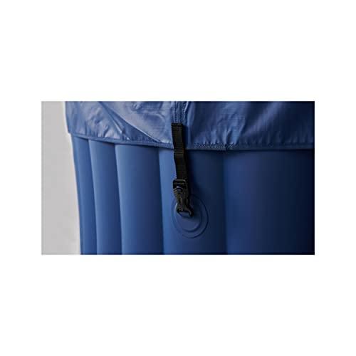 Oviala Spa Gonflable Bleu Carré 185 x 185 x 68 cm PVC 6 Places Spa Lite MSPA