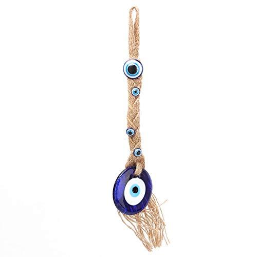 Oumefar Amuleto de Cristal Turco Lucky Eyes Charm Ojo Azul islámico Colgante de Pared Lucky Protection