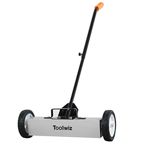 18 Inches 26 Lbs Heavy Duty Magnetic Sweeper Magnetic Pickup Tool Telescoping Magnet Tool Holder with Quick Release Latch and Extension Handle