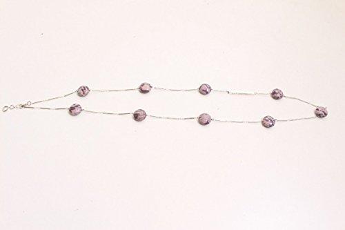 Collar elegante con piedras moradas Snö of Sweden 106 cm de largo, estilo vintage