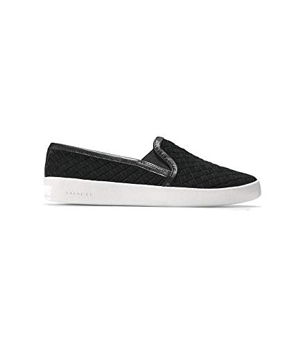 Price comparison product image Cole Haan Women's Grandpro Spectator Slip ON Loafer,  Black Woven Suede,  7 B US
