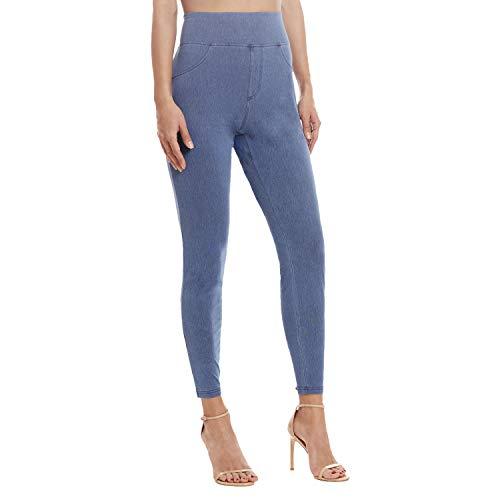 Leggings for Women - Premium Stretch Skinny Jeggings for Women - Women Jeggings Medium Blue 1X