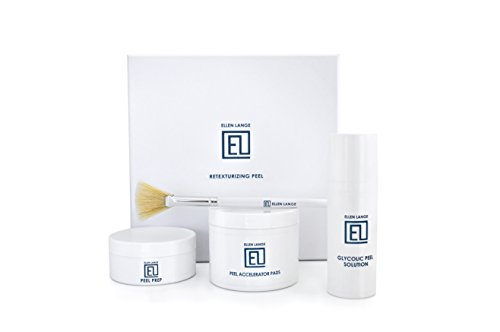 Ellen Lange Retexturizing Skin Peel Kit - At Home Glycolic Chemical Facial Treatment 2019