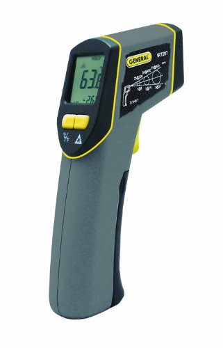 General Tools IRT207 Laser Temperature Gun, Thermal Detector, 8:1 Mid-Range Infrared Thermometer