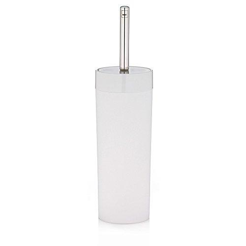 Kela 21744 set porte-brosse WC, plastique blanc, 'Farbmix Lis'