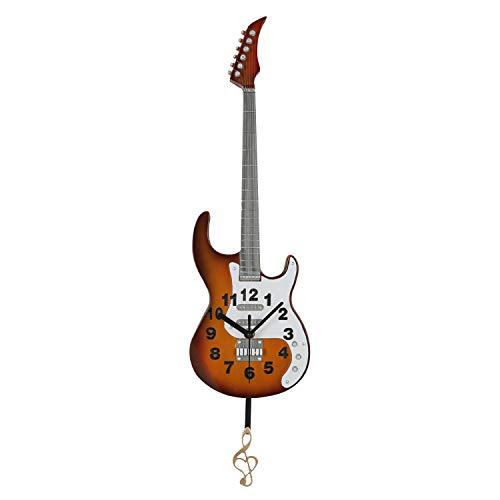 UMI. by Amazon Reloj de Pared de péndulo en Forma de Guitarra para Salas de Estar, comedores u oficinas domésticas