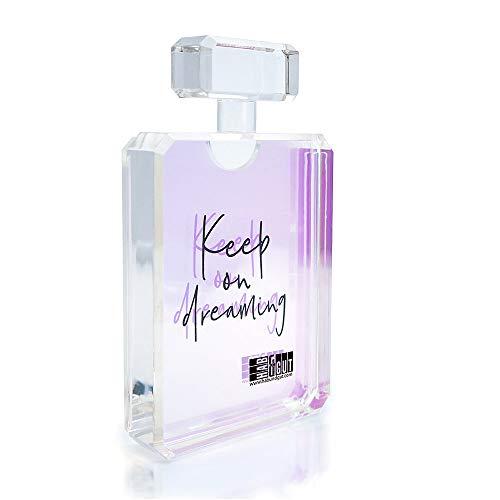 HAB & GUT -FR014- Marco de fotos transparente diseño en frasco de perfume traslúcido claro 7 x 12 cm